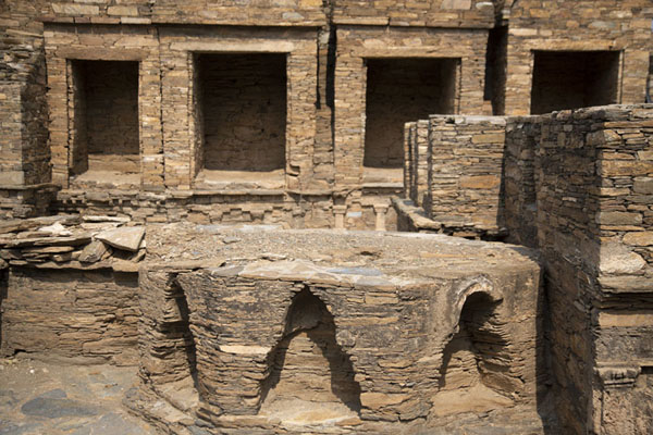 Detailed view of the central stupa court | Takht-i-Bahi | Pakistan