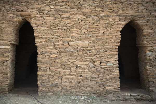 Wall giving access to meditation cells | Takht-i-Bahi | Pakistan