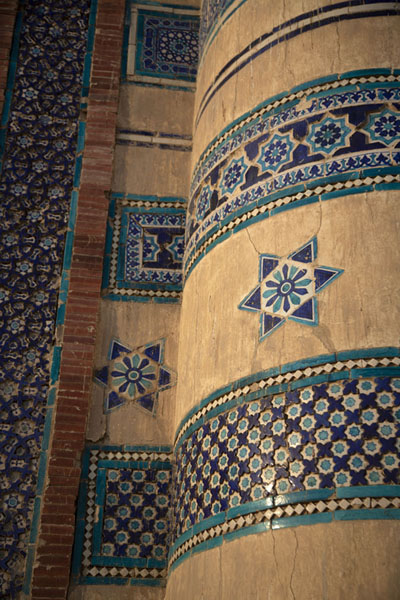 Detail of a tower and wall of Bibi Jawindi Tomb | Uch Sharif tombs | Pakistan