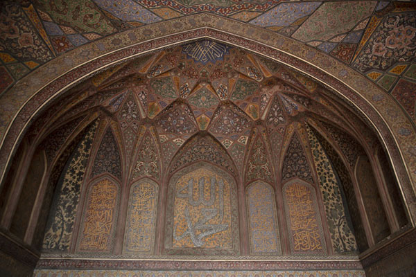 Foto van Vaulted wall in the prayer hall of Wazir Khan mosqueLahore - Pakistan