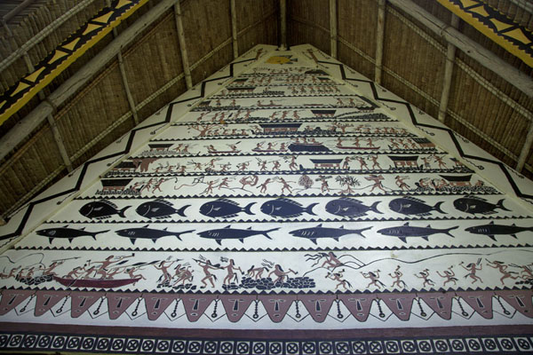Foto van The rich decorative painting of Airai baiBabeldaob - Palau