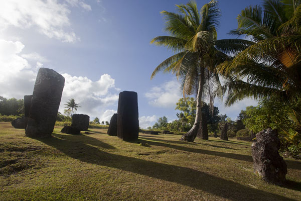 Picture of Badralchau monoliths (Palau): Monoliths casting a shadow on the central field at Badrulchau