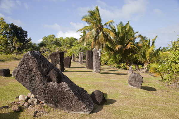 Picture of Badralchau monoliths (Palau): The central field on which most monoliths can be found