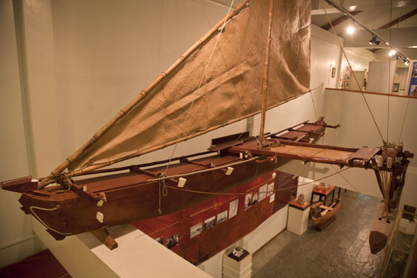 Traditional canoe in the museum | Belau National Museum | Palau