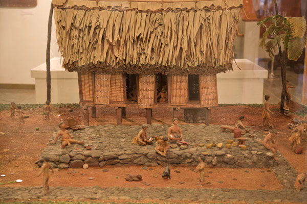 Miniature village exposed inside the museum | Belau National Museum | Palau