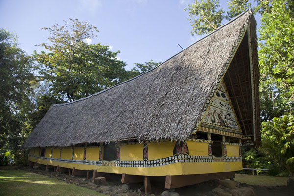 The bai in the backyard of the museum of Belau | Belau National Museum | Palau
