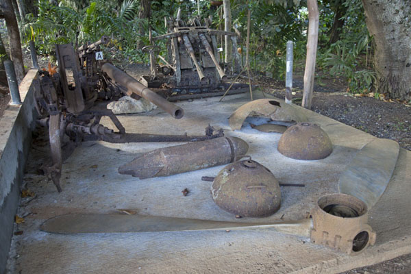 Second World War remains on display outside the museum | Belau National Museum | Palau