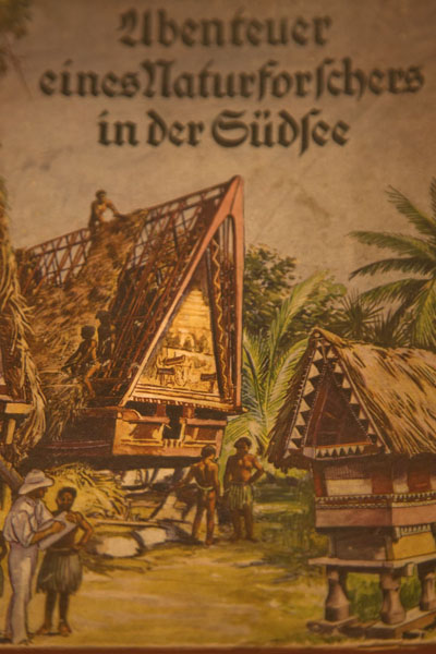 Bai depicted on a German book on Palau | Belau National Museum | Palau