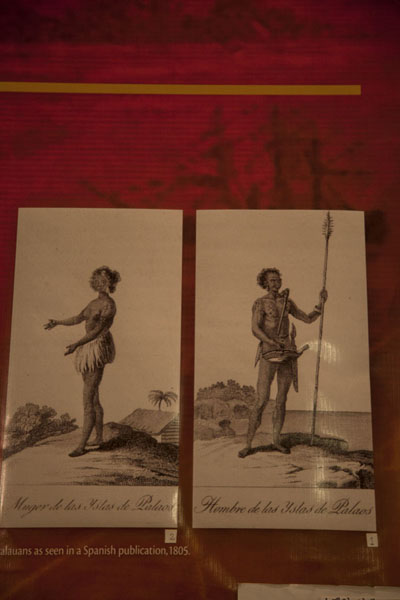 Drawings of Palauans by the Spanish, the first European visitors to Palau | Belau National Museum | Palau