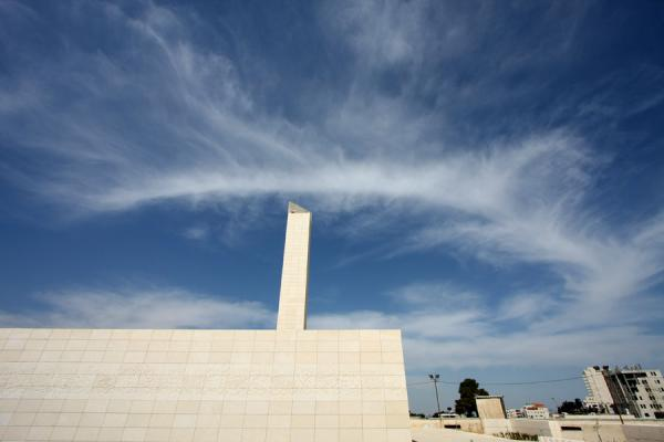 Picture of Arafat Mausoleum (Palestinian Territories): Minaret and mosque at the mausoleum of Arafat