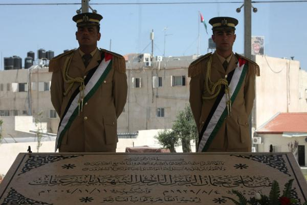 Guards at the tomb of Arafat | Arafat Mausoleum | Palestinian Territories