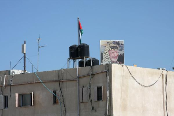 Picture of Arafat decorating the presidential compound at Muqata'a | Arafat Mausoleum | Palestinian Territories