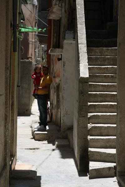 Picture of Asker refugee camp (Palestinian Territories): Stairs and alley in Asker