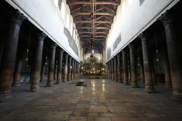 Foto de Main aisle of the Church of the NativityBelén - Palestina