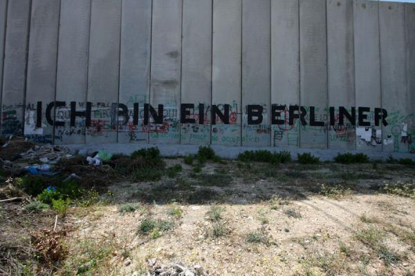 Picture of Political statement on the infamous Israeli Wall in Bethlehem
