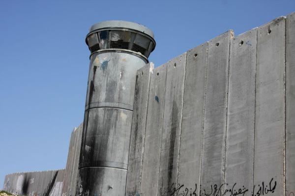 Watchtower and wall in Bethlehem | Israeli Wall | Palestinian Territories