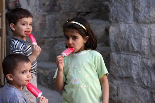 Palestinian kids having an ice-cream in Nablus | Palestinians | Palestinian Territories