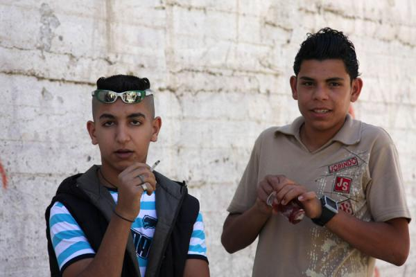 Palestinian teenagers showing off in Askar refugee camp | Palestinians | Palestinian Territories