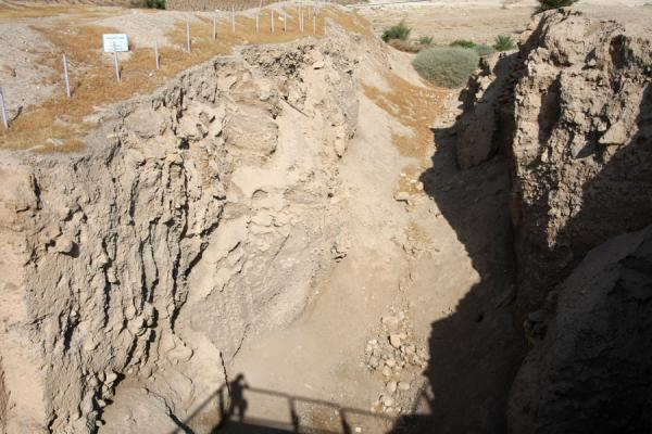 Canaanite city wall, over 4000 years old | Tel es-Sultan | Palestinian Territories