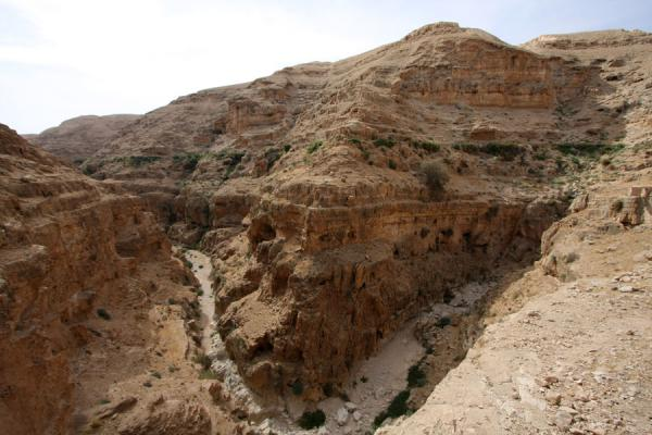 Picture of Wadi Qelt (Palestinian Territories): Bend in Wadi Qelt canyon