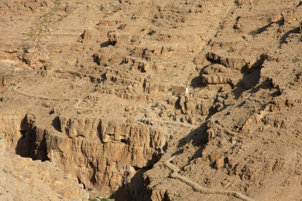 Picture of Wadi Qelt (Palestinian Territories): Path leading through dry Wadi Qelt