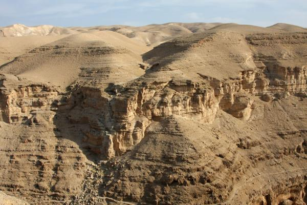 Rugged terrain: the top of the cliffs of Wadi Qelt | Wadi Qelt | Palestinian Territories