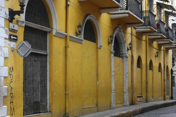 Picture of Panama Old City (Panama): Colonial house in one of the many narrow streets in Panama