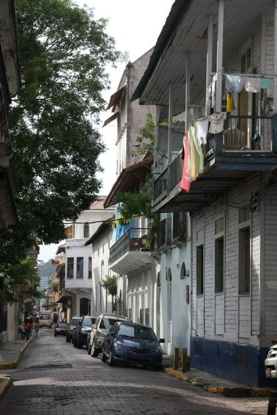 Foto van Street in the old city of PanamaPanama stad - Panama