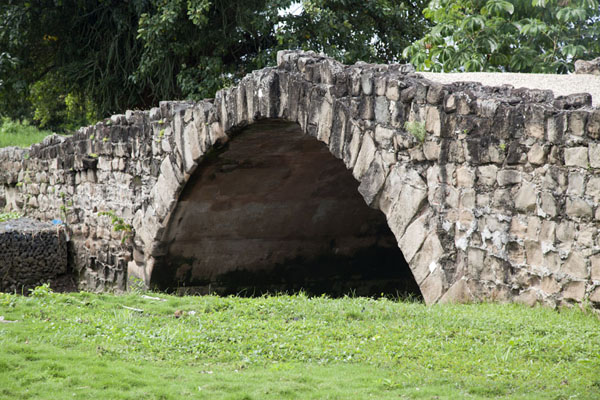 Picture of The King's Bridge, or Puente del Rey, built in the early 17th century, spans the Abajo river - Panama - Americas