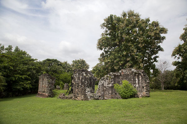 Foto van Ruins of the Casas Reales, once the centre of power in Panamá ViejoPanama stad - Panama