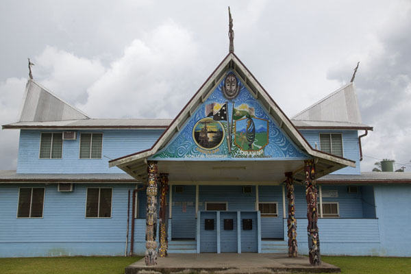 Regional government building with local details | Angoram | Papua New Guinea