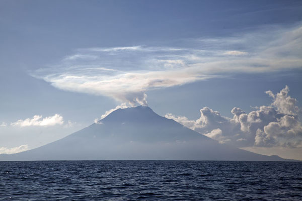 Picture of Manam volcano is an impressive sight as you leave the Sepik river - Papua New Guinea - Oceania