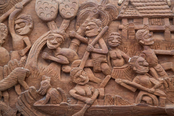 Picture of Close-up of carving in ChimondoKeram river - Papua New Guinea