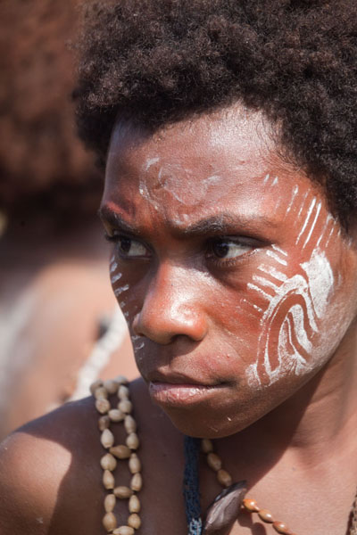 Picture of Young girl in the singsing group from KambarambaMadang - Papua New Guinea
