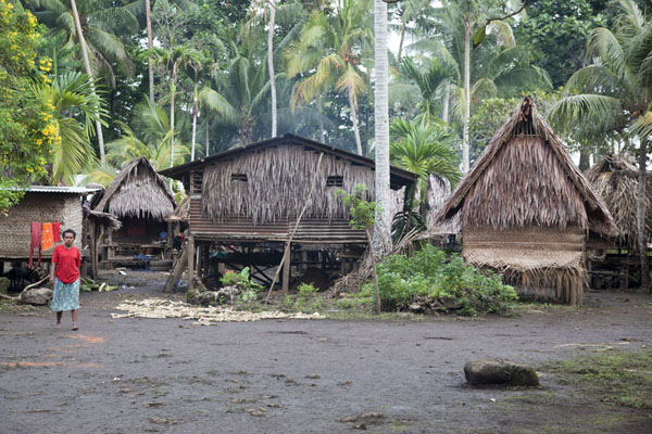 Huts in one of the clusters of Okaiboma | Okaiboma | Papua New Guinea