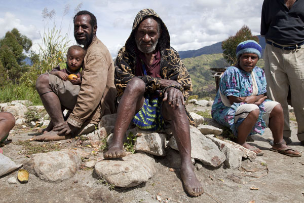 Foto di Papua Nuova Guinea (Papuas from the highlands in the vicinity of Keglsugl)