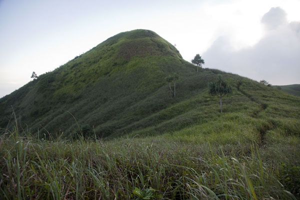 The rim and summit of Kombiu, or Mother volcano | Rabaul Volcanoes | 巴布亚新畿内亚