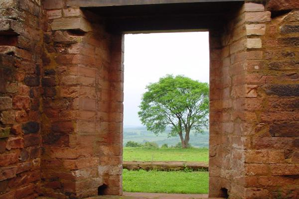 View through a door | Jesús Jesuit mission | Paraguay