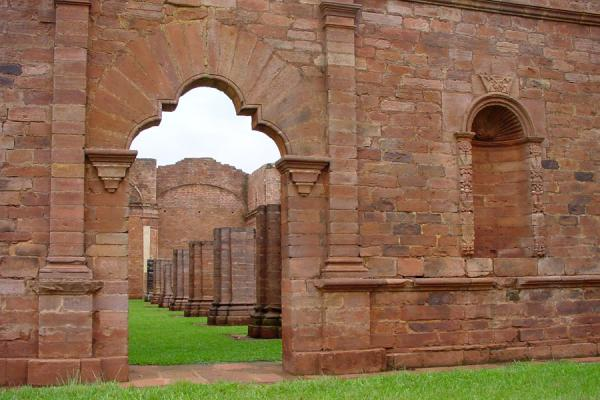Foto di Entrance to churchJesus - Paraguay