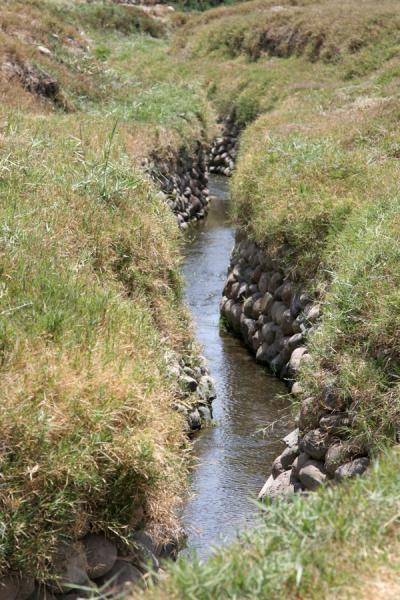 Picture of Cantalloc Aqueducts (Peru): Cantalloc aqueducts: S-shaped canal