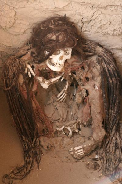 Remains of mummy at Chauchilla cemetery | Chauchilla cemetery | Peru