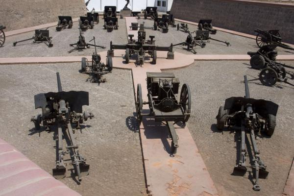 Artillery Park displaying cannons used by the Peruvian army in different periods | Fortaleza Real Felipe | Peru
