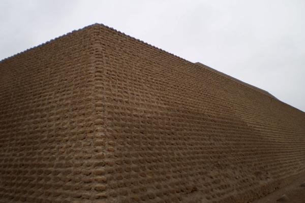Pyramid of Huallamarca seen from one of the corners | Huaca Huallamarca | Peru