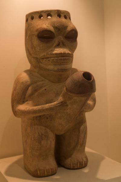 Dead man with an erect penis in the erotic gallery | Larco Museum | Peru