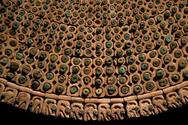 Close-up of one of the finest pieces in the gallery: a pectoral of a high dignitary | Larco Museum | Peru