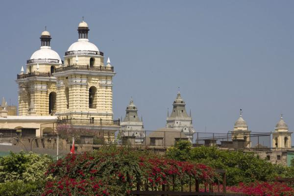 San Francisco church on the left, with other bell towers on the right | San Francisco Monastery | Peru