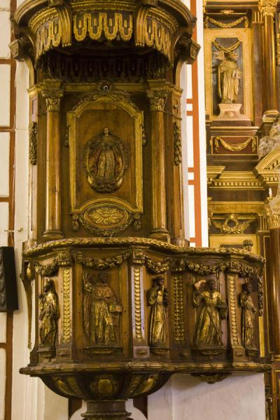 Picture of San Francisco Monastery (Peru): San Francisco church: pulpit