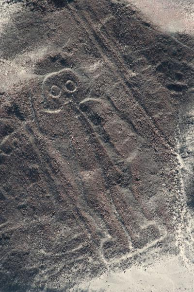 Picture of Nazca lines (Peru): The Astronaut can be found on a hillside in the Jumana pampa