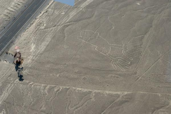 The Hand, visible also from the observation tower | Nazca lines | Peru