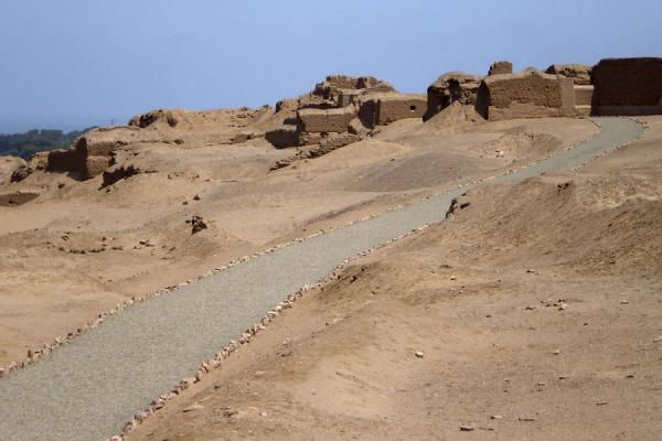 Picture of Pachacamac (Peru): Pachacamac ruins and road